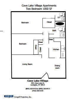2 Bedrooms 2 Bathrooms Apartment for rent at Cove Lake Village in Lexington, KY