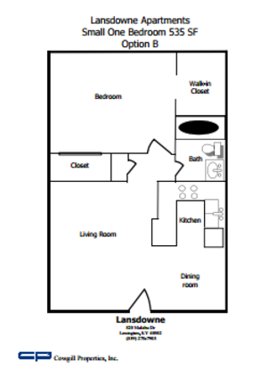 1 Bedroom 1 Bathroom Apartment for rent at Lansdowne in Lexington, KY