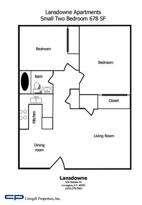 2 Bedrooms 1 Bathroom Apartment for rent at Lansdowne in Lexington, KY