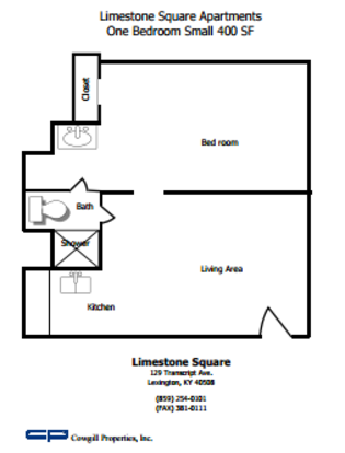 1 Bedroom 1 Bathroom Apartment for rent at Limestone Square in Lexington, KY