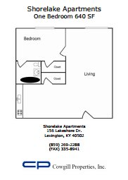 1 Bedroom 1 Bathroom Apartment for rent at Shorelake Apartments in Lexington, KY