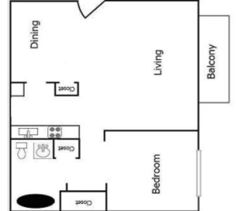 1 Bedroom 1 Bathroom Apartment for rent at The Reserve At Merrick in Lexington, KY