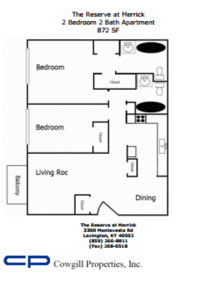 2 Bedrooms 2 Bathrooms Apartment for rent at The Reserve At Merrick in Lexington, KY