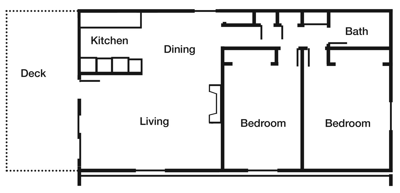 2 Bedrooms 1 Bathroom Apartment for rent at Deeswood Village in Springfield, MO