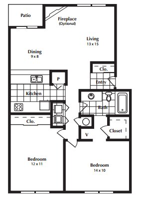2 Bedrooms 1 Bathroom Apartment for rent at Breckinridge Court in Lexington, KY