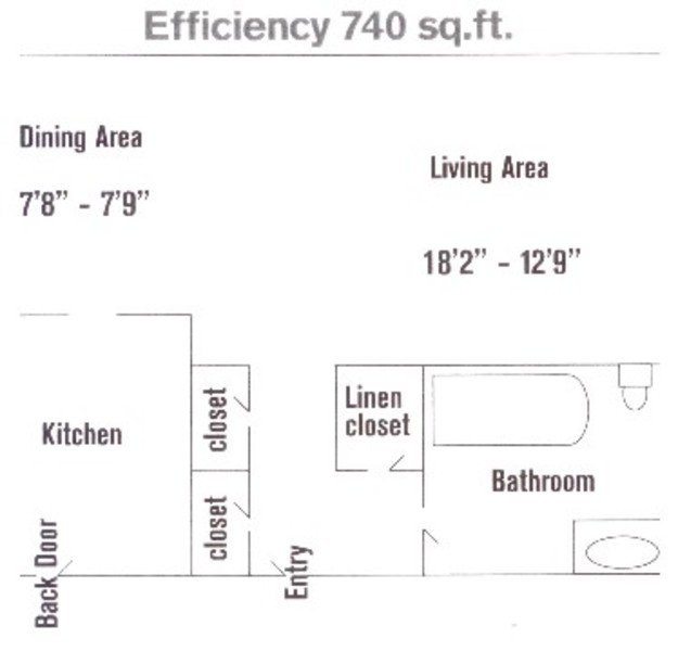 Studio 1 Bathroom Apartment for rent at Sequoyah Village Apartments in Knoxville, TN