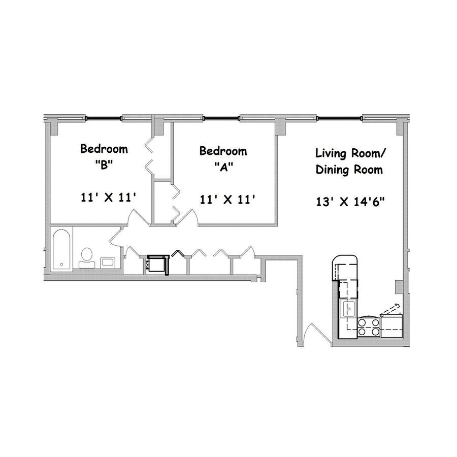 1 Bedroom 1 Bathroom Apartment for rent at The Tower At Morgan Hill in Knoxville, TN