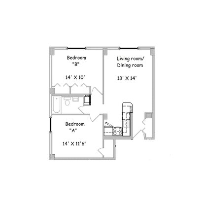 2 Bedrooms 1 Bathroom Apartment for rent at The Tower At Morgan Hill in Knoxville, TN