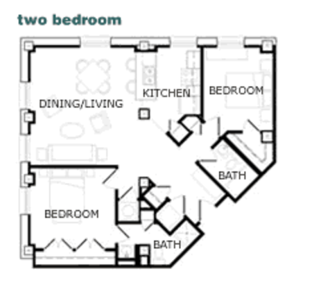 2 Bedrooms 2 Bathrooms Apartment for rent at St. Francis in Louisville, KY