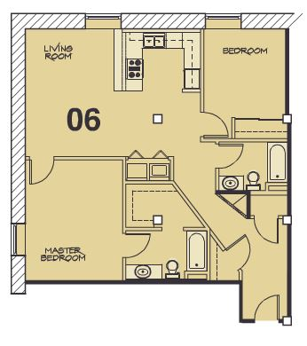 2 Bedrooms 2 Bathrooms Apartment for rent at Ebt Lofts in Kansas City, MO