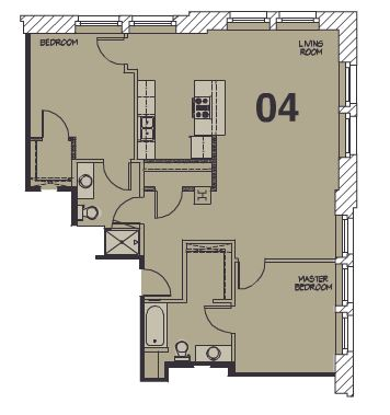 2 Bedrooms 1 Bathroom Apartment for rent at Library Lofts in Kansas City, MO