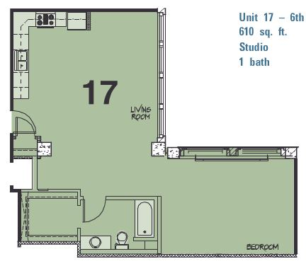 Studio 1 Bathroom Apartment for rent at Library Lofts in Kansas City, MO