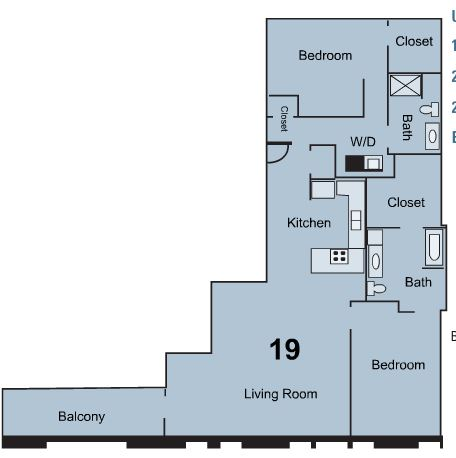 2 Bedrooms 2 Bathrooms Apartment for rent at Stuart Hall in Kansas City, MO