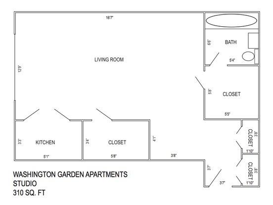 Studio 1 Bathroom Apartment for rent at Washington Garden Apartments in Kansas City, MO