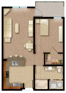1 Bedroom 1 Bathroom Apartment for rent at 45 Madison in Kansas City, MO