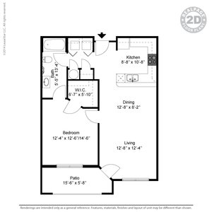 1 Bedroom 1 Bathroom Apartment for rent at The Retreat At Tiffany Woods in Kansas City, MO
