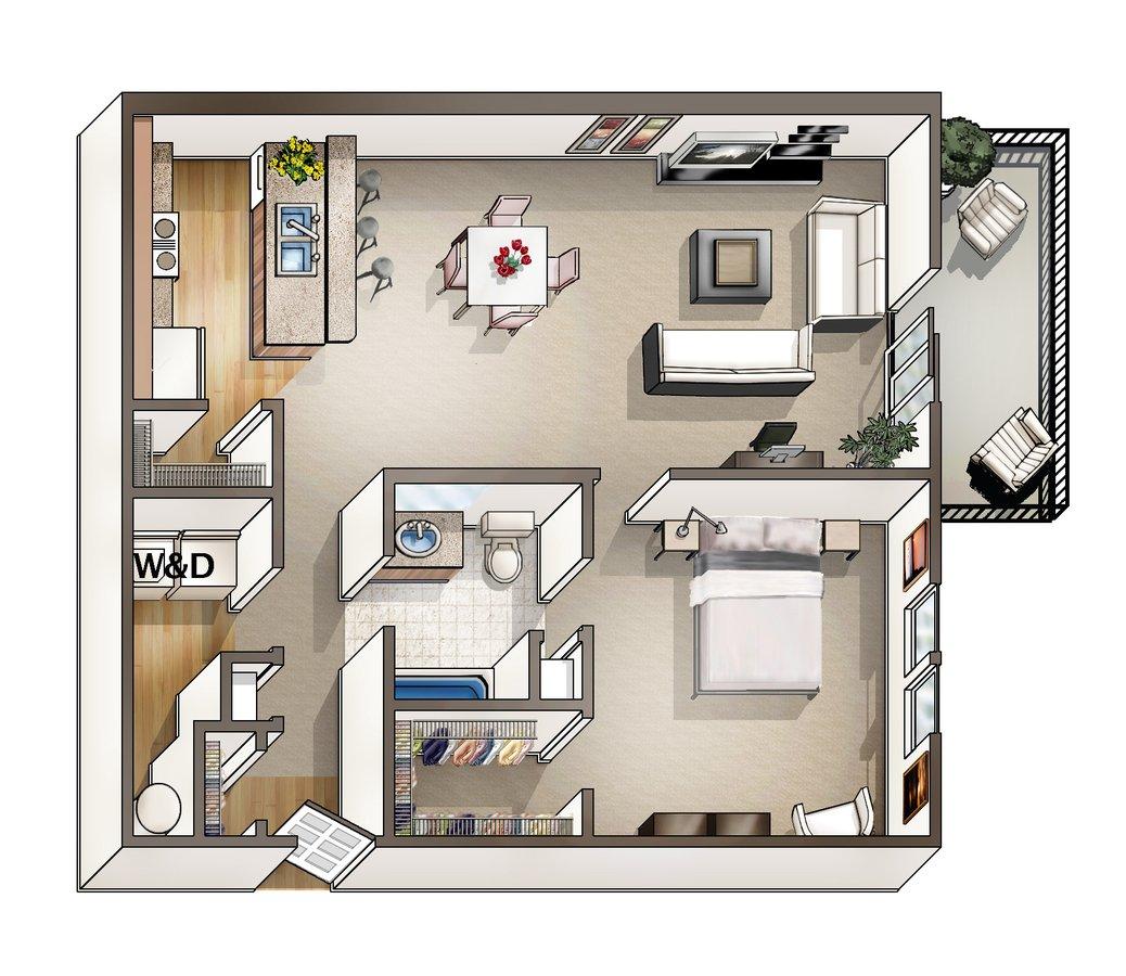 1 Bedroom 1 Bathroom Apartment for rent at Blankenbaker Crossings in Louisville, KY