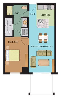 1 Bedroom 1 Bathroom Apartment for rent at Waterside At Riverpark Place in Louisville, KY