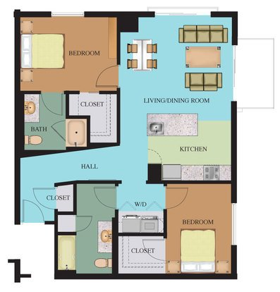 2 Bedrooms 2 Bathrooms Apartment for rent at Waterside At Riverpark Place in Louisville, KY