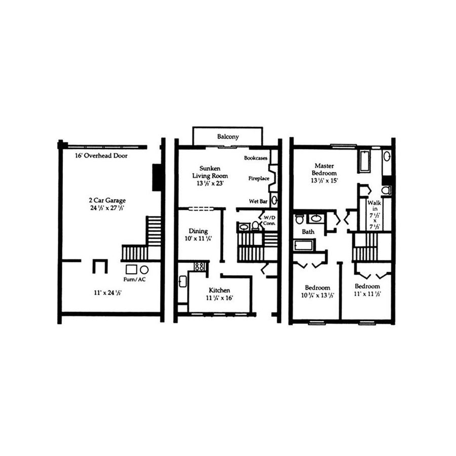 3 Bedrooms 2 Bathrooms Apartment for rent at The Park At Hurstbourne Apartments in Louisville, KY