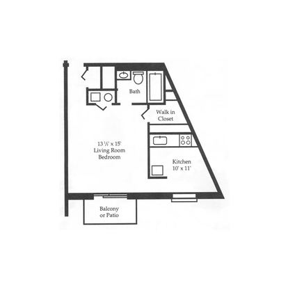 Studio 1 Bathroom Apartment for rent at The Park At Hurstbourne Apartments in Louisville, KY