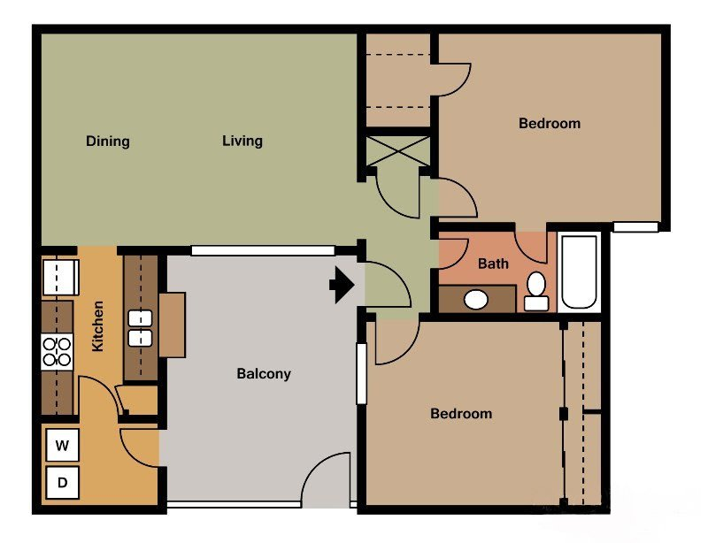 2 Bedrooms 1 Bathroom Apartment for rent at Hunter's Pointe in Charlotte, NC