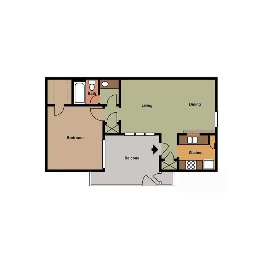 1 Bedroom 1 Bathroom Apartment for rent at Hunter's Pointe in Charlotte, NC