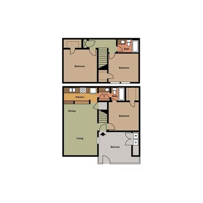 3 Bedrooms 1 Bathroom Apartment for rent at Hunter's Pointe in Charlotte, NC