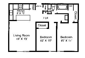2 Bedrooms 1 Bathroom Apartment for rent at Royal Arms in Louisville, KY
