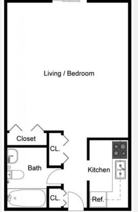 Studio 1 Bathroom Apartment for rent at Tanglewood Apartments in Louisville, KY