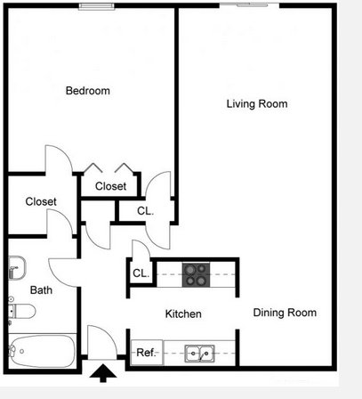 1 Bedroom 1 Bathroom Apartment for rent at Tanglewood Apartments in Louisville, KY