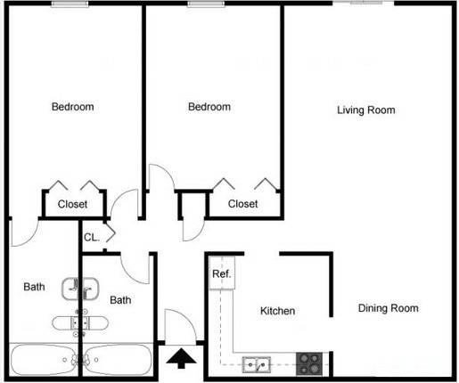 2 Bedrooms 2 Bathrooms Apartment for rent at Tanglewood Apartments in Louisville, KY