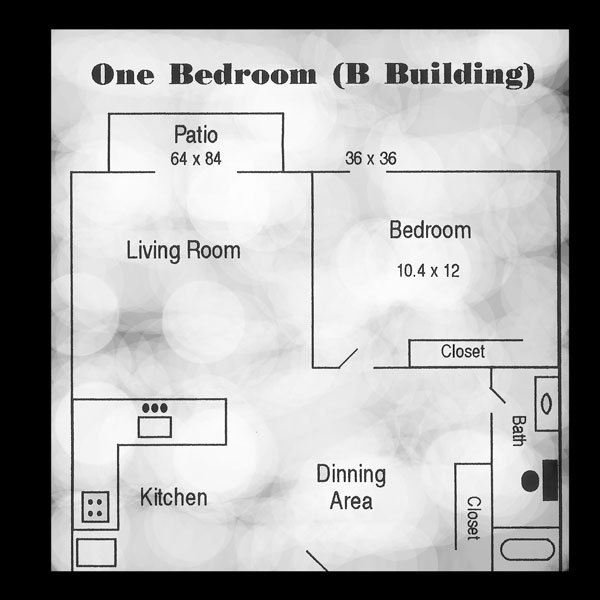 1 Bedroom 1 Bathroom Apartment for rent at University Circle Apartments in Toledo, OH