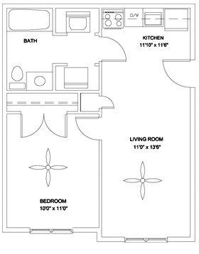 1 Bedroom 1 Bathroom Apartment for rent at Bentley Ridge in Durham, NC