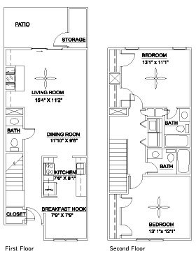 2 Bedrooms 3 Bathrooms Apartment for rent at Lenox East & West in Durham, NC