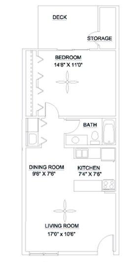 1 Bedroom 1 Bathroom Apartment for rent at Audubon Lake in Durham, NC