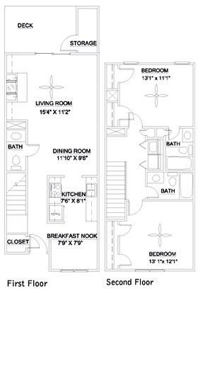 2 Bedrooms 3 Bathrooms Apartment for rent at Audubon Lake in Durham, NC