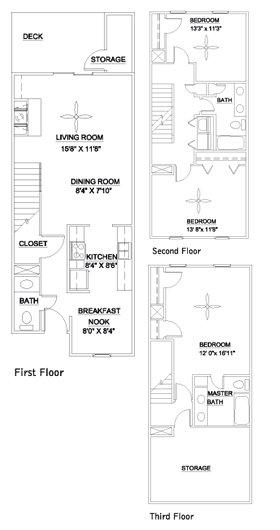 3 Bedrooms 3 Bathrooms Apartment for rent at Audubon Lake in Durham, NC