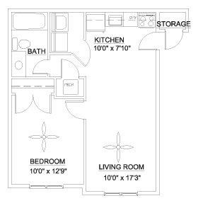 1 Bedroom 1 Bathroom Apartment for rent at Pine Ridge in Durham,