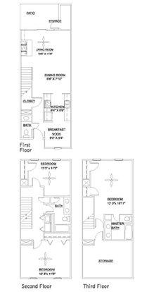 3 Bedrooms 3 Bathrooms Apartment for rent at Pine Ridge in Durham,