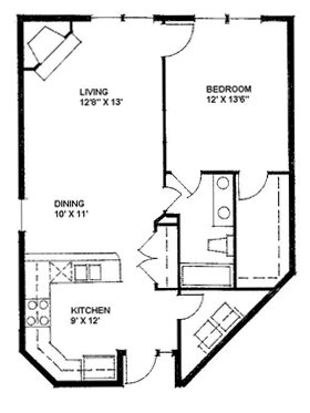 1 Bedroom 1 Bathroom Apartment for rent at Sutton Station in Durham, NC