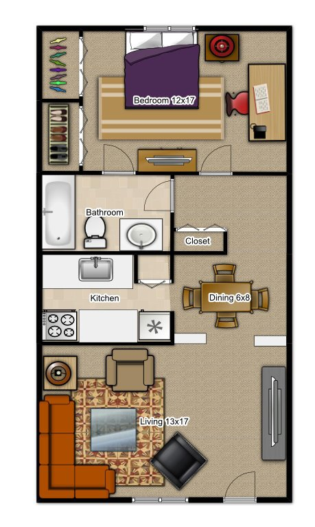 1 Bedroom 1 Bathroom Apartment for rent at Camelot Apartments in Gainesville, FL