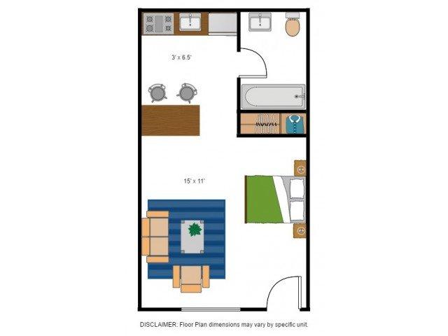 Studio 1 Bathroom Apartment for rent at Bentwood Apartments in Gainesville, FL