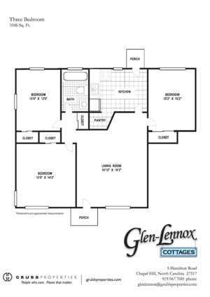 3 Bedrooms 1 Bathroom Apartment for rent at Glen Lennox in Chapel Hill, NC