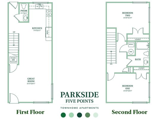 2 Bedrooms 2 Bathrooms Apartment for rent at Parkside Five Points in Raleigh, NC
