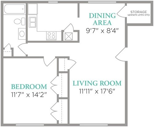 1 Bedroom 1 Bathroom Apartment for rent at Lexington Park Apartments in Indianapolis, IN