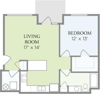 1 Bedroom 1 Bathroom Apartment for rent at Delta Flats in Cincinnati, OH