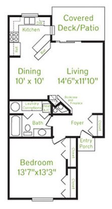 1 Bedroom 1 Bathroom Apartment for rent at The Enclave in Beavercreek, OH