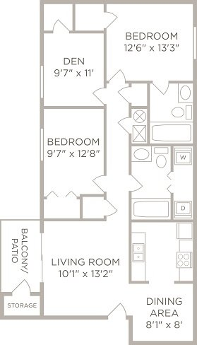 2 Bedrooms 2 Bathrooms Apartment for rent at Hilltop Apartments in Cincinnati, OH