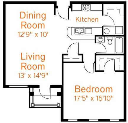 1 Bedroom 1 Bathroom Apartment for rent at Roebling Row in Covington, KY